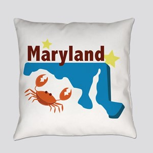 State Of Maryland Everyday Pillow